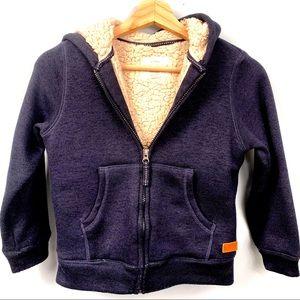 Weatherproof Sherpa Jacket Zip Up Hoodie Kids 7/8